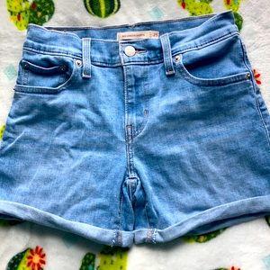 Levi's Mid Length Denim Shorts